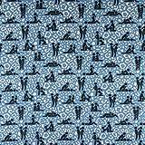Baumwolljersey Kamasutra auf Animalprint jeansblau - Preis