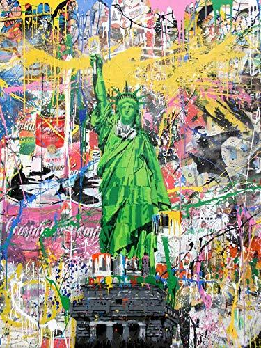 Decoraciones de arte Escultura Estatua de la Libertad Pinturas de arte de Graffiti en la pared Arte Pósteres Pósteres E Arte callejero de la calle Arte de la Estatua de Liberty Pictures Decoración par