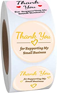 Thank You Stickers roll (Pink 5 Styles)