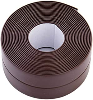 AQUATX Sealing Tape Tile Self Adhesive Bath Wall Durable Exquisite Sealing Tape Strip Waterproof Sealant Roll Sink Basin Edge Trim