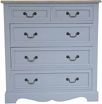 Charles Bentley Loxley Grey Chest Of Drawers - Color: Grey