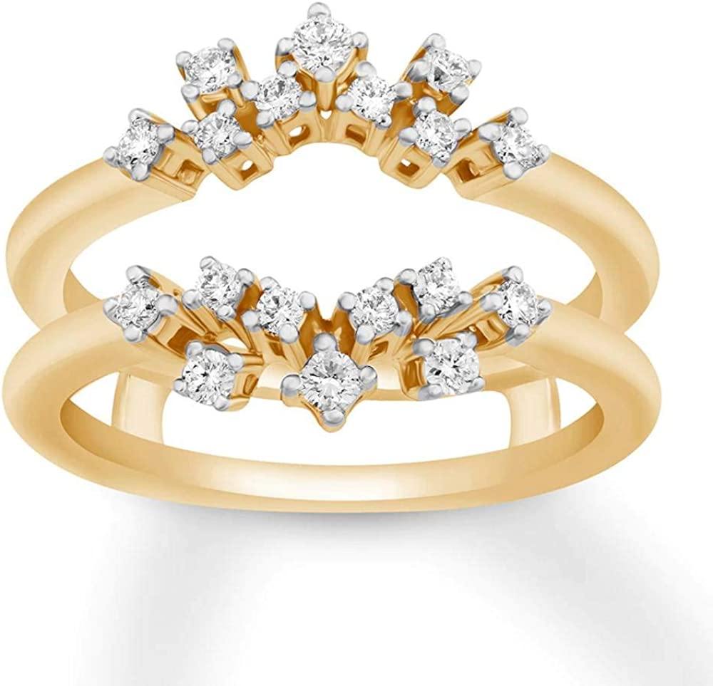 Jewelry gift Star 14K Yellow Gold Plated Cut 0.50 ct Silver in Round 2021 model