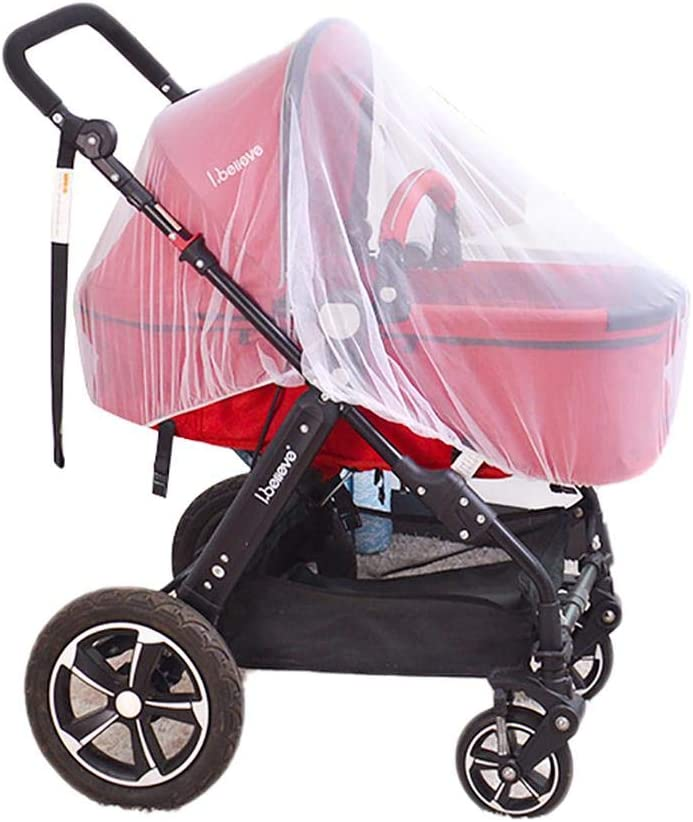 Vaskey Baby Stroller Mosquito Net Portable Breathable Mosquito Net Bug Net for Baby Strollers Infant Carriers Car Seats Cradles