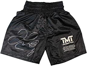 Floyd Mayweather Jr Autographed/Signed TMT Black Boxing Trunks LE/500 BAS 24972 - Beckett Authentication