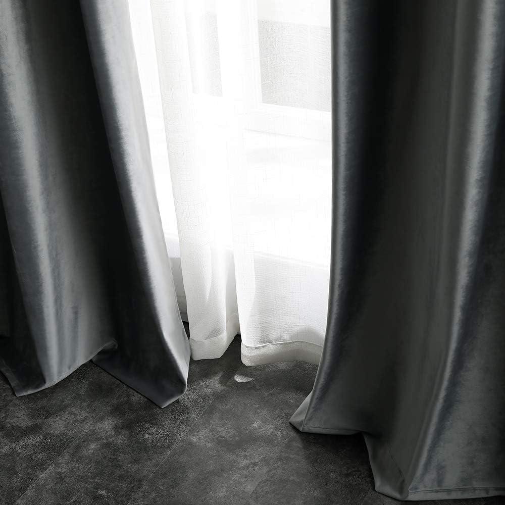 B x H MIULEE 2 St/ück Verdunklungsvorhang Samtvorh/änge Blickdicht Vorhang mit /Ösen Thermogardine /Ösenvorhang Verdunkelungsgardinen f/ür Schlafzimmer Wohnzimmer,140 x 145 cm Dunkelgr/ün