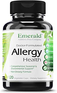 Allergy Health - with Quercetin, Bromelain & N-Acetyl Cysteine - Natural Antihistamine & Anti Inflammatory, Relief for Cou...