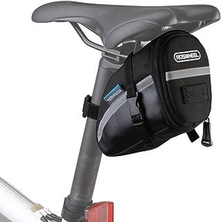 Lixada Bolsa Negra de Sillín de Bicicleta 15x8x9cm para