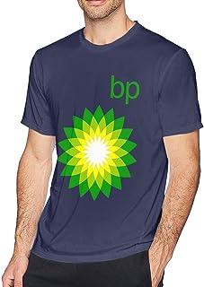 Jingliyu Men Casual BP_Logo Round Neck T Shirts