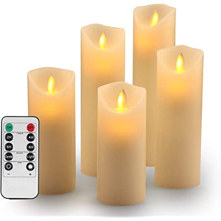T/él/écommande Bougies Coniques LED 12 Bougies Coniques LED sans Flamme avec Fonction Minuterie Bougies De Table Bougies Chandelier avec Lumi/ère Jaune Hauteur 28 Cm Chacune