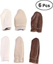 Healifty 6PCS Finger Sleeves Protector Thumb Index Finger Cots Thimble Sewing Craft Tool (Random Color)