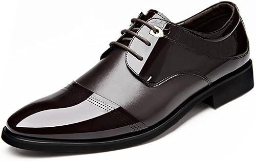 LEDLFIE Chaussures pour Hommes Affaires Robe Cuir Chaussures Mode Dentelle Hommes Chaussures en Cuir Chaussures Simples