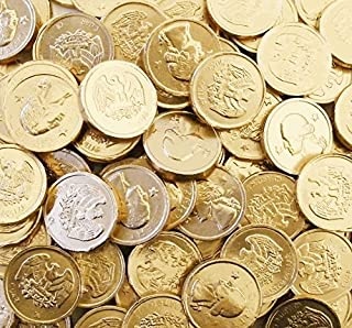 RiverFinn Gourmet Milk Chocolate Gold Coins - Bulk Wholesale (2 Pounds) Perfect for Parties, Gifts, Favors, Game Nights, P...