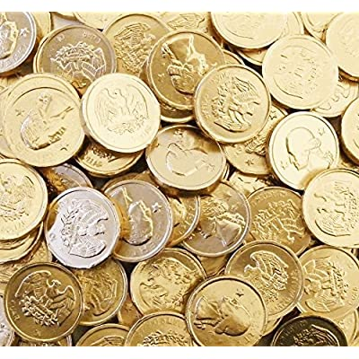 chocolate coins wrapped in gold