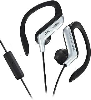 JVC HAEBR80S Sports Clip High Quality Headphones (Silver)