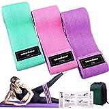 Bandas Elasticas Gluteos Musculacion, 3 Piezas Cintas Elasticas Musculacion para Piernas/Glúteos/Muslo,Bandas de Resistencia para Hombres Mujeres Pilates Yoga y musculación (Green/Pink/Purple)