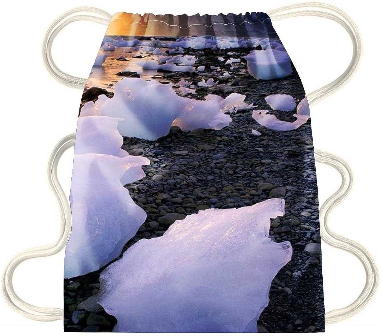 IRocket  Melting ice  Drawstring Backpack Sack Bag