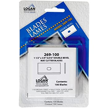 Amazon Com Logan Replacement Mat Cutting Blade 269 100 For Framers Edge 650 Mat Cutter Pack Of 100 Blades