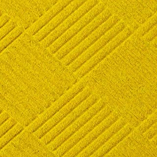 Half-Oval Grand Premier Smooth Rubber Back for Hard Surfaces Yellow 6' x 3.3' Waterhog Entrance Mats