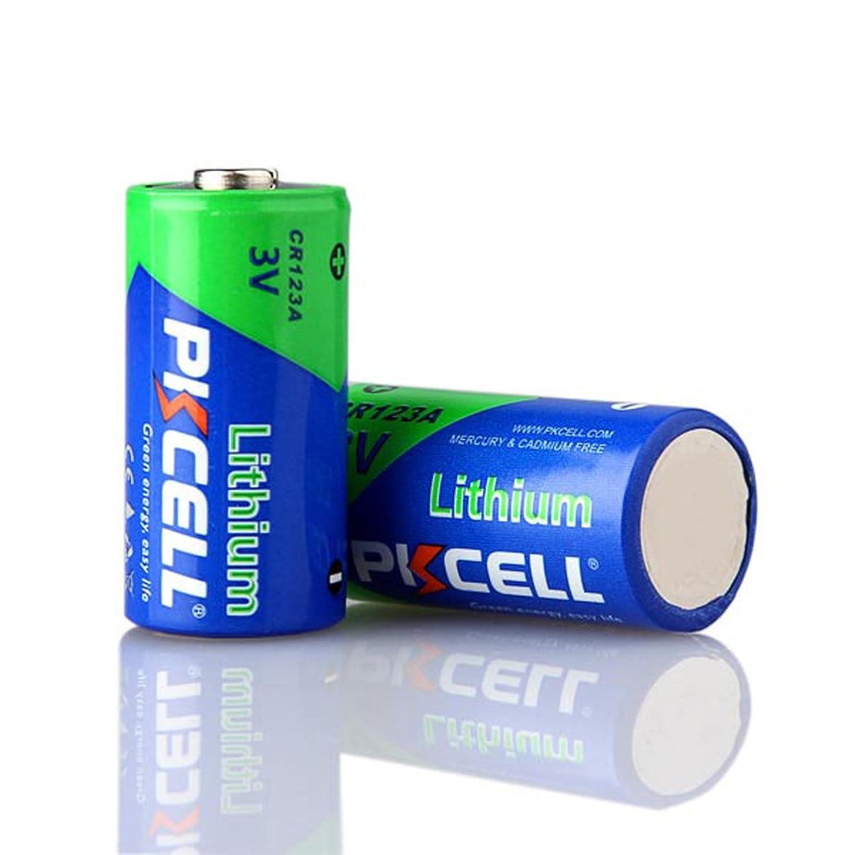 3V CR123A 123A CR17345 1500mah Lithium Batteries 2Pcs