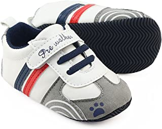 Voberry Newborn Baby Girls Sound Bowknot Shoes Soft Sole Anti-slip Toddler Sneakers