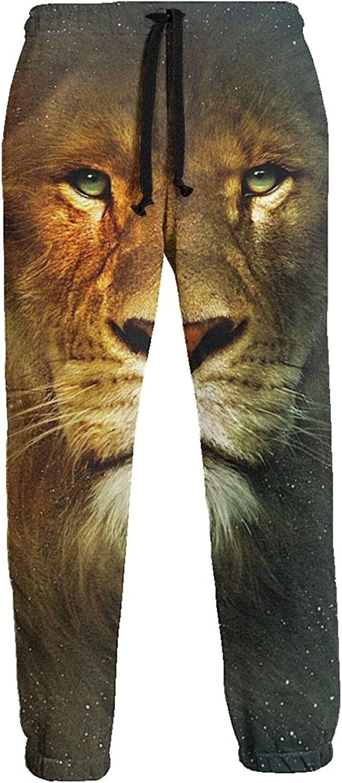 Men's Women's Sweatpants Furious Lion Athletic Running Pants Workout Jogger Sports Pant