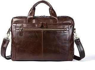 """Men's Accessories for 14"""" Laptop Tote Bag,Men's Business Messenger Bag Satchel Shoulder Crossbody Sling Working Bag Bookbag Briefcase Brown Outdoor Recreation"""