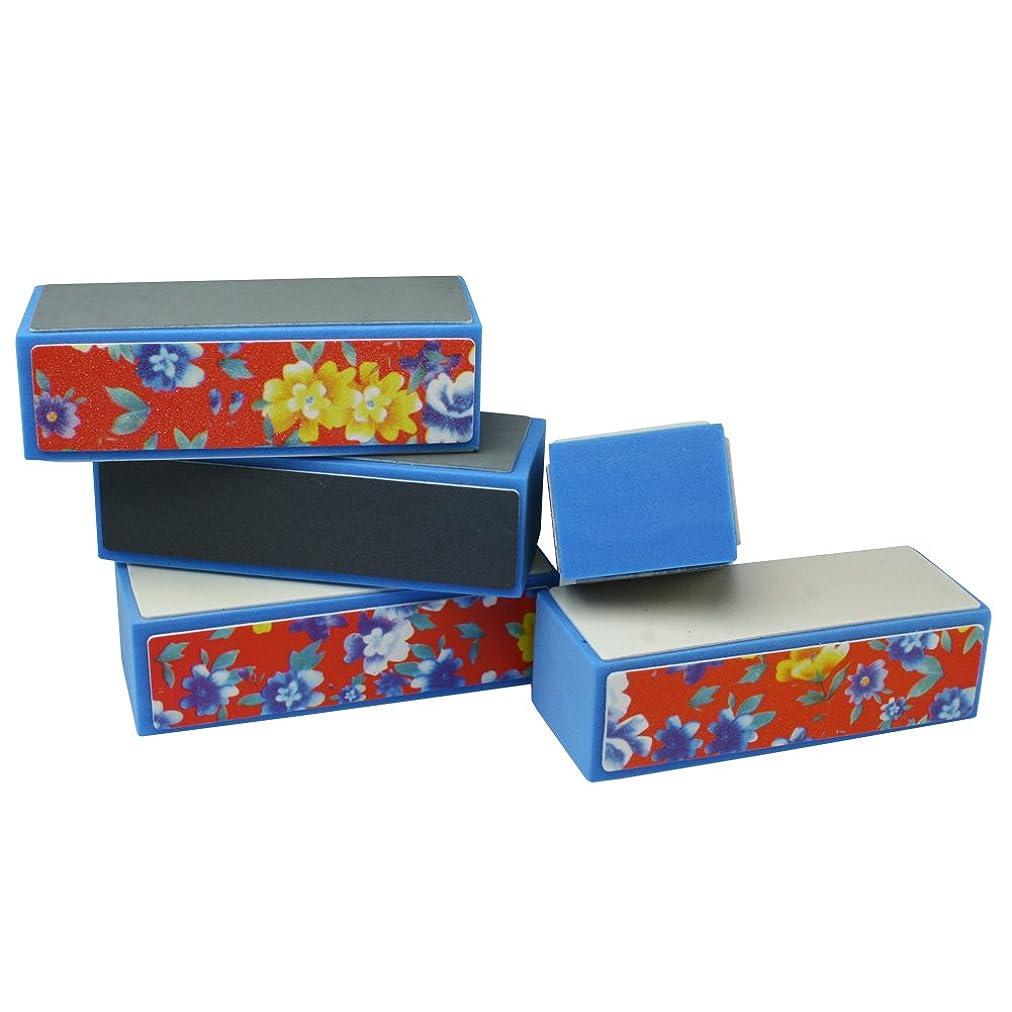 熟練した積分クリープ5個セット 4面ブロックバッファー 爪やすり 爪磨きネイルシャイン ネイルケア シャインネイル