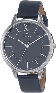 ساعة تيتان للسيدات نيو IV بسوار جلدي