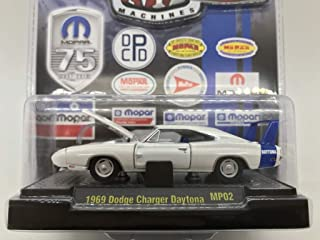 M2 Machines by M2 Collectible Auto-Dreams 1969 Dodge Charger Daytona MP02 13-15 White/Blue Details Like NO Other!