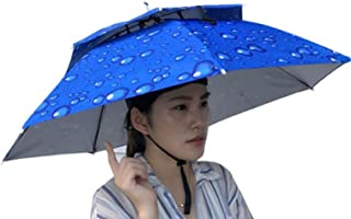 Double Layer Umbrella Hat for Women and Men, Iuhan Unisex Foldable Novelty Umbrella Sun Hat Golf Fishing Camping Fancy Dre...