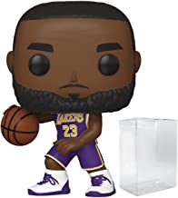 Lebron James LA Lakers Purple Jersey POP! Sports NBA Action Figure (Bundled with Pop Protector to Protect Display Box)