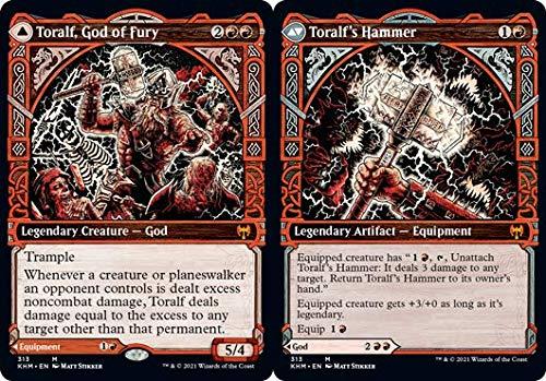 'Magic: the Gathering - Toralf, God of Fury // Toralf''s Hammer - Martello di Toralf - Kaldheim'