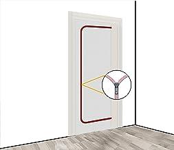Stofbescherming deur (vlies) incl. ritssluiting, stofbescherming, bouwdeur, 1,10 x 2,20 m, o.a. voor renovaties en ombouwe...