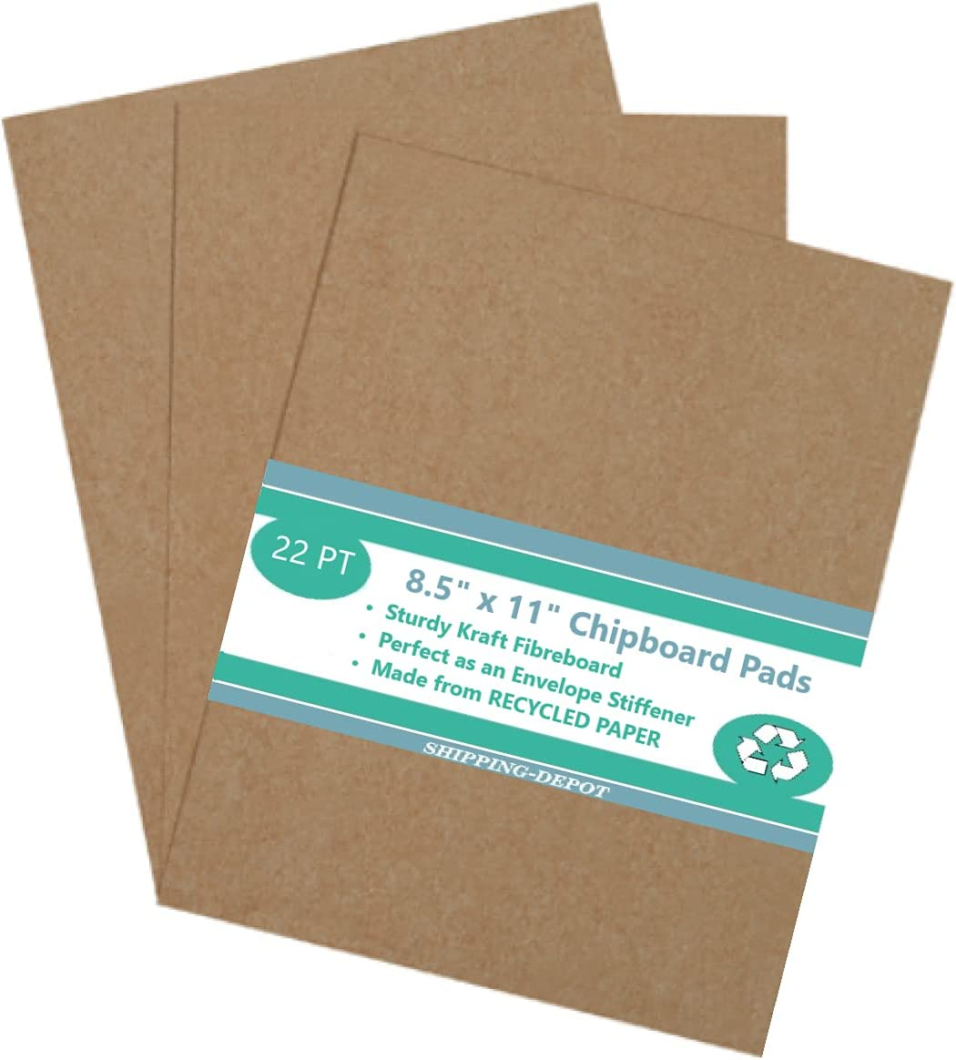 """Pack of 10 8.5x11 Brown Sale New arrival Chipboard .022"""" We Pads 22PT Medium"""