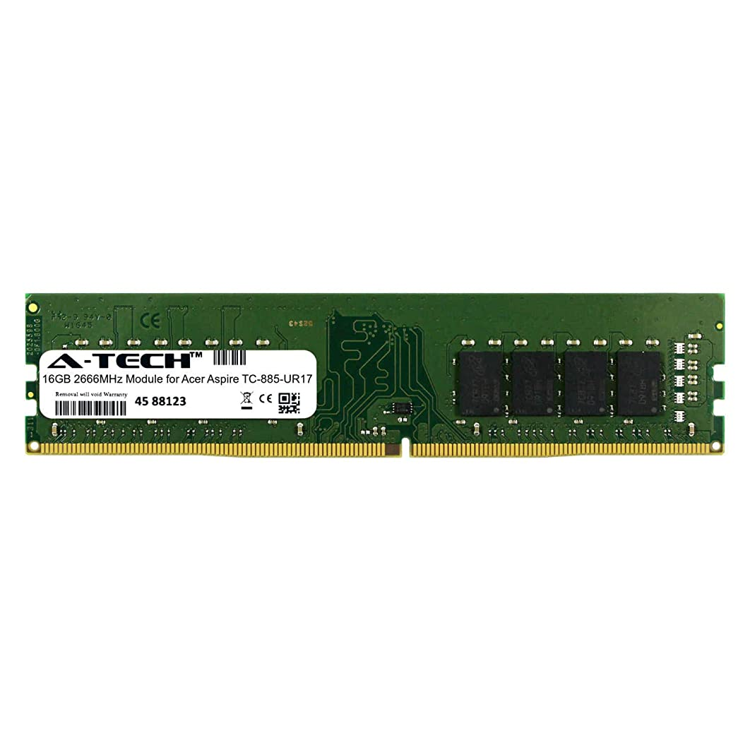 A-Tech 16GB Module for Acer Aspire TC-885-UR17 Desktop & Workstation Motherboard Compatible DDR4 2666Mhz Memory Ram (ATMS267938A25823X1)