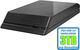 Avolusion HDDGear 3TB (3000GB) 7200RPM 64MB Cache USB 3.0 External PS4 Gaming Hard Drive (PS4 Pre-Formatted) - PS4, PS4 Slim, PS4 Slim Pro - 2 Year Warranty