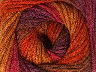 (1) 100 gram Magic Light Copper Brown Purple Pink Self-Striping DK Yarn
