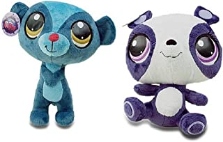 Littlest Pet Shop 9 Inch Plush Pet Figures Sunil Nevla Mongoose/Penny Ling Panda
