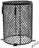 Pantalla protectora para lámpara de calentamiento de reptiles, para anfibios, mascotas, calentador de luz anticalor, jaula para lagarto, tortuga, serpiente, pájaros