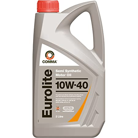 Comma Eul2l 2l Eurolite Semi Synthetic 10w40 Motor Oil Amazon Co Uk Automotive