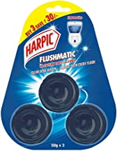 Harpic Flushmatic Toilet in Cistern Block - 50 g (Pack of 3, Aquamarine, Blue)