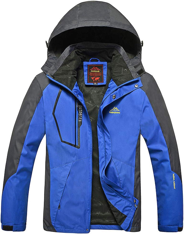 Amacok Men's Sportswear Jacket, Windproof Hooded Softshell Waterproof Coats