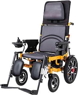 TOOSD Silla de Ruedas eléctrica de Doble función Plegable para sillas de Ruedas (Li-