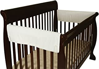 leachco easy teether crib rail cover white