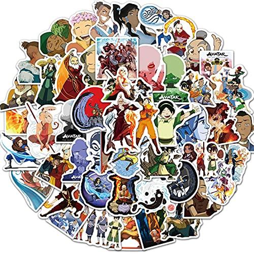 WANGPENG Pegatinas de Dibujos Animados, monopatín de Viaje, Maleta, Equipaje de Guitarra, portátil, Pegatina de Graffiti, 50 Piezas