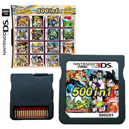 500 in 1 Game Cartridge Multicart, Game Pack Card Super Combo for Nintendo DS/NDS/NDSL/NDSi/3DS/2DS XL/LL