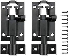 2 stuks 2 inch deurbout slot roestvrij staal schuifslot met schroeven voor het bevestigen van interne deuren voor slaapkam...