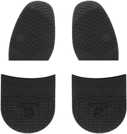 Sharplace Talons En Caoutchouc Unisexe Et Colle Sur Demi-semelles Anti-dérapant Réparation De Chaussures Noir