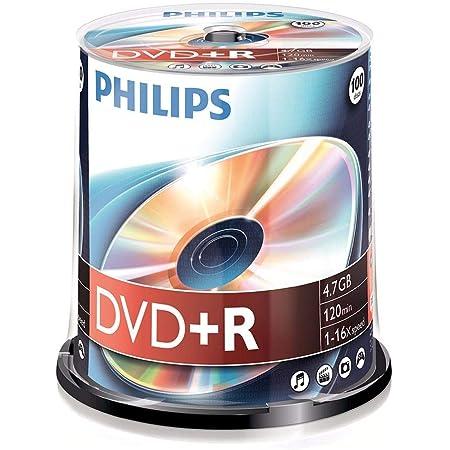 Philips Dvd + R De 4,7 Gb / 120 Min / 16X Tarrina (100 Disc)