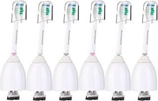 Aoremon Replacement Brush Heads Compatible with Phillips Sonicare E-Series HX7001(6 Pack), Essence, Xtreme, Elite, Advance, and CleanCare Electric Toothbrush with Caps